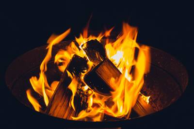 Nothing like a small fire to warm the soul. And frozen extremities. - Wohllebens Waldakademie