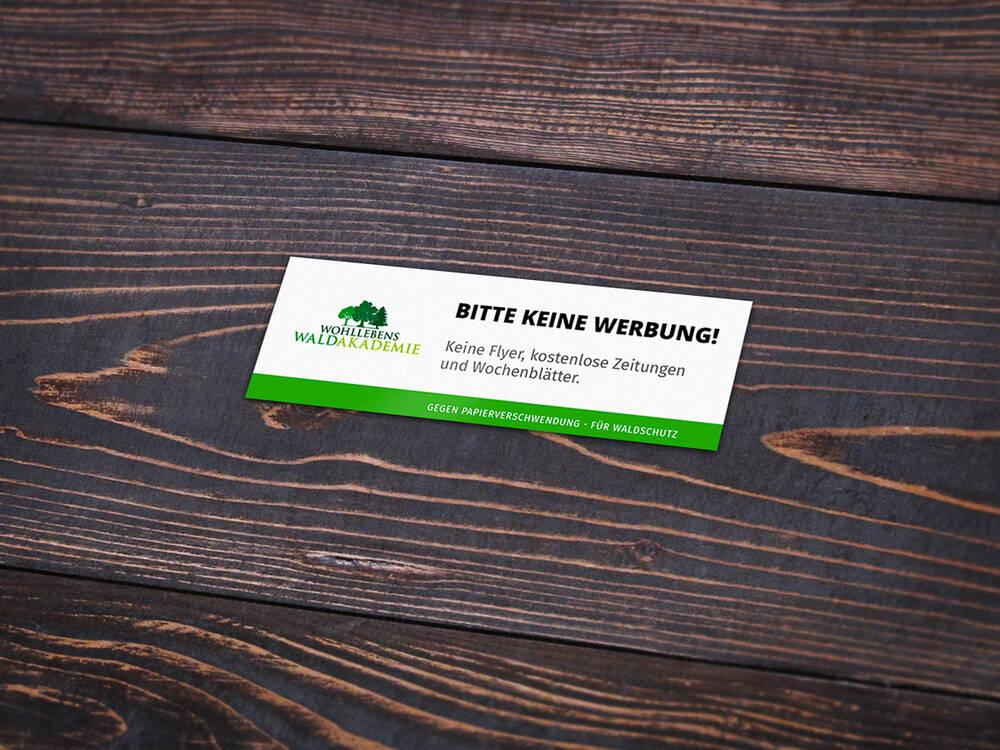 Bitte Keine Werbung Aufkleber Wohllebens Waldakademie